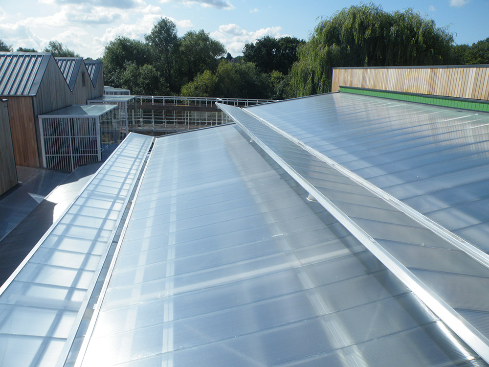Mosco Group Specified And Supplied Arcoplus 623™ 20mm Multiwall Polycarbonate  Roofing Panels And The Aluminium Carriers. The Clear Panels Are Co Extruded  ...